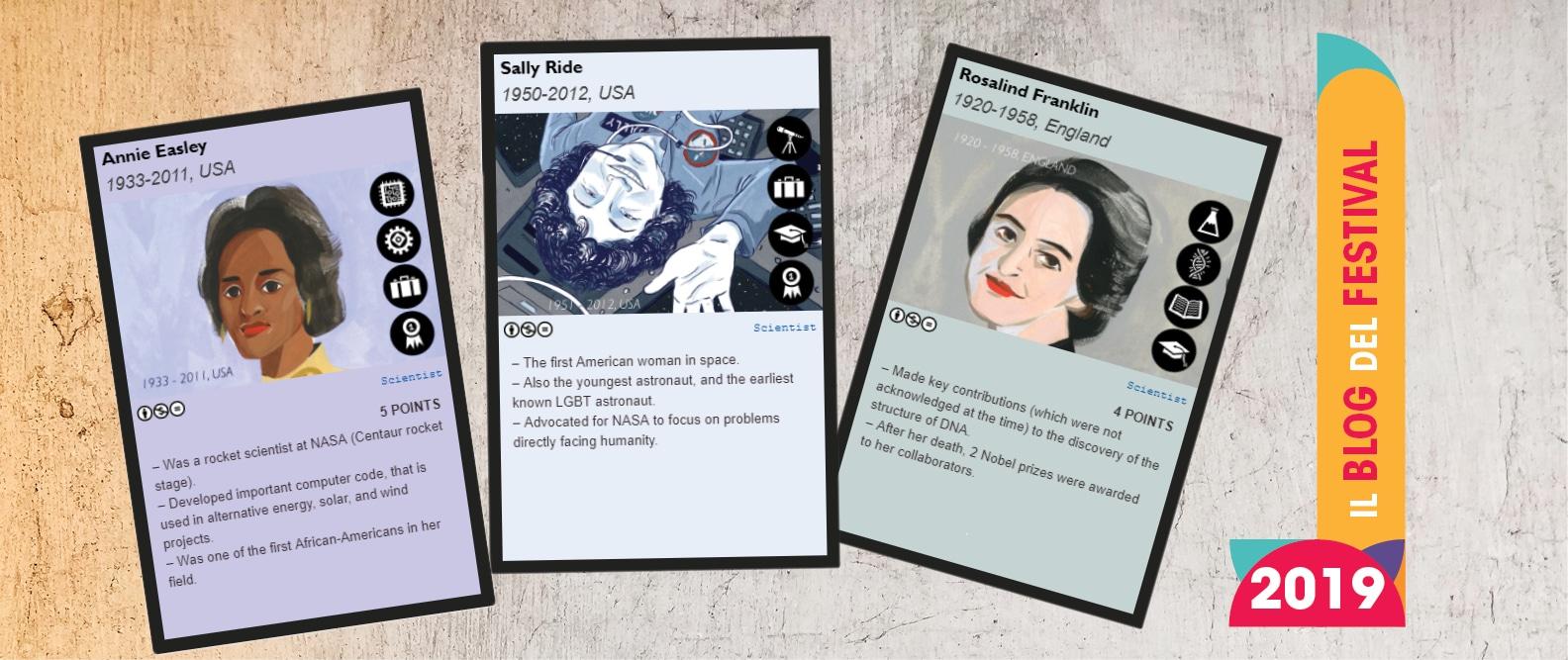 Arrivano le carte da gioco sul mondo della scienza al femminile